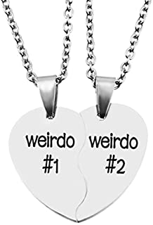 BFF Necklace for 2,Teen Girls & Boys Gifts Stainless Steel Heart Broken Friendship Necklace Set