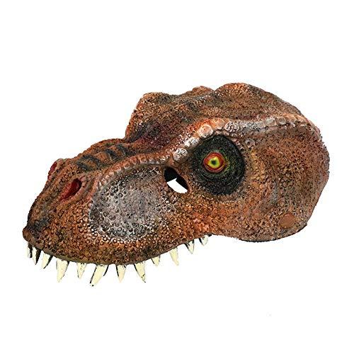 Ardorman 3D Schaum Dinosaurier Tyrannosaurus Latex Maske, realistische Dinosaurier Maske für Halloween Party, Party Kostüm für Kinder Erwachsene