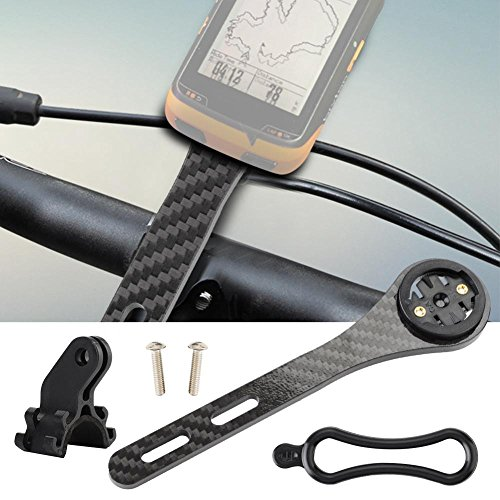 Great Features Of NATRUSS Convenient Integrated Bike Computer Mount, Carbon Fiber Bicycle Handlebar ...