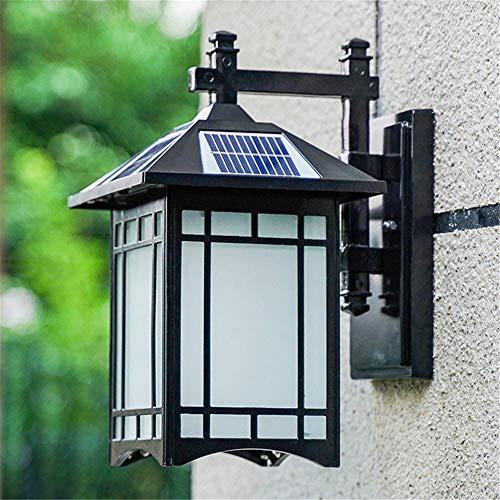 Luces solares Farolillos de pared vintage para exteriores Impermeables IP65 Focos Aplique de pared para jardín...