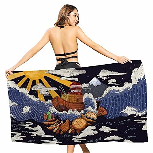 Toalla de playa de arena antiadherente, diseño abstracto artístico, impresión creativa, chal de protección solar, toalla de secado rápido, toalla de playa o toalla de playa de microfibra