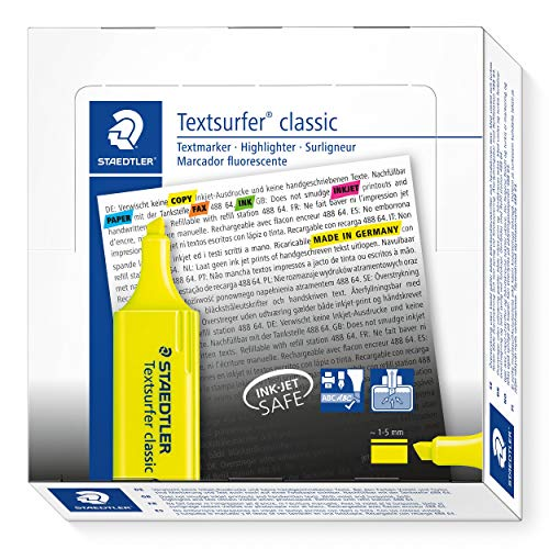 Staedtler Textsurfer Classic 364 Highlighter - Yellow, Pack of 10