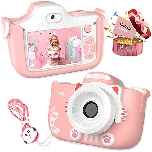 CamOn Digital Kids Camera for Girls Selfie Camera for Kids Age 3 with Flash 32 GB 12 MP Premium product image