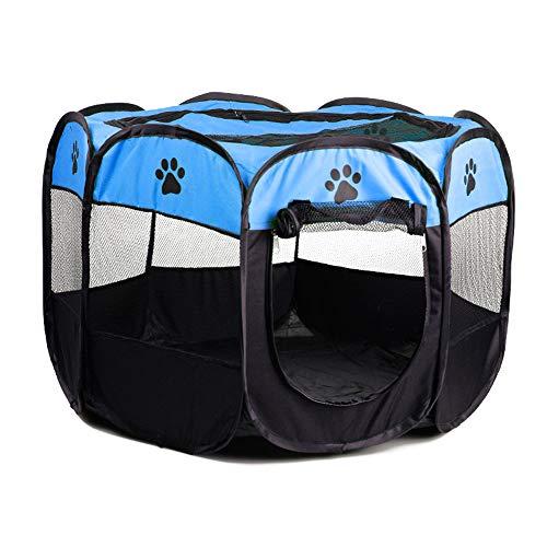 GXHGRASS Opvouwbare huisdier tent, Puppy Draagbare Duurzame hond Paw Nest, Puppies Game Achthoekige hek, Outdoor Verwijderbare Vest Zonneschaduw, Roller Shutter Deur Ontwerp