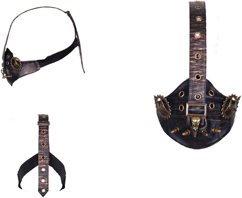 XINXIN Steampunk Death Bird Gear Leather Mask Mask
