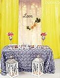 DUOBAO Paillettenvorhänge 2 Paneele 60 x 200 cm Duschvorhang Payette Pailletten Hintergr& Hochzeit Dekor Pailletten Vorhang Hintergr& Pailletten Foto Hintergr& Party Supplies (70 x 200 cm, gelb)