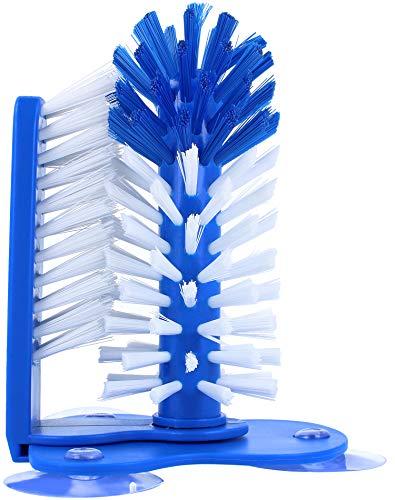 COM-FOUR® glazenwasborstel met zuignappen voor de gootsteen - afwasborstel voor glazen, kopjes en bekers - ideaal voor horeca of huishouden