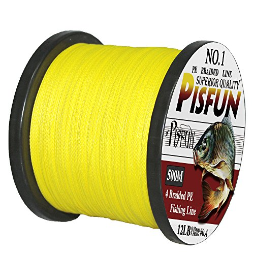 Pisfun Super Strong Braided Fishing Line 4 Strands...