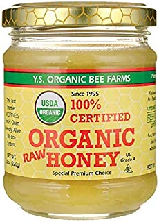 100% Certified Organic Raw Honey 8 Ounce (226 Grams) Paste