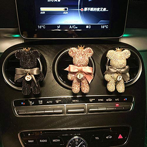 LLKKJJ Car Aromatherapy Car Perfume Decoration Ornaments Air Conditioning Air Outlet Aromatherapy Solid Perfume Violent Bear Interior Decoration-Black_Violent Bear Outlet 1