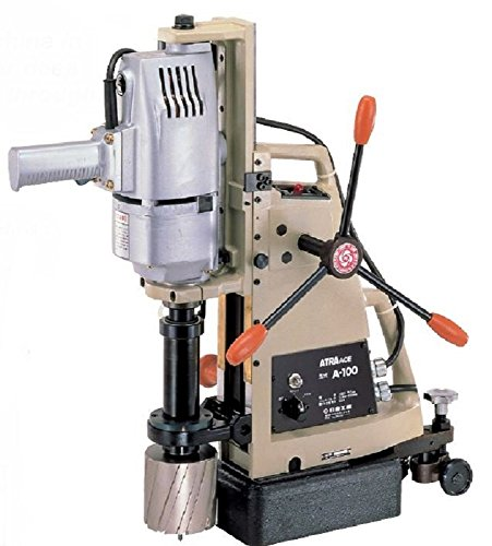 ace drills Nitto Kohki A-100 Atra Ace Manual Feed Magnetic Drill, Uses Jetbroach Carbide Tipped Annular Cutters, 4