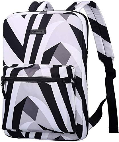 YNLRY Tablet Cases Laptop Bag Canvas Lightweight Laptop Bag, Fashion Laptop Backpacks, 15.6 Inch (Color : Zebra, Size : 15-15.6inch)