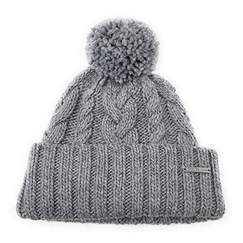 Michael Kors Mütze - Bommelmütze - Wintermütze - Grau - One Size - Strickmütze - Weiche Acrylwolle - MK Logo 2856