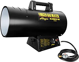 PROWARM Industrial Electric Heater Liquid Propane Forced Air Heater with Over-heat Protection Large Area 50000-85000BTUs Output