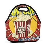 Reisekoffer Lunchbox mit Reißverschluss Retro, Vintage Grunge Pop Corn Werbedruck Altmodisches Kino Film Film Snack Artsy, Multicolor, Paw Patrol