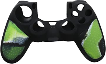 KESOTO Soft Silicone Gel Rubber Grip Controller Protecting Cover For PS4 Camo Green