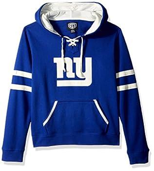 OTS NFL New York Giants Women s Grant Lace Up Pullover Hoodie Logo Medium