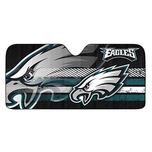 "FANMATS Team Pro Mark NFL Philadelphia Eagles Universal Auto Shade, Large, Teal , 27.5"" x 58"""