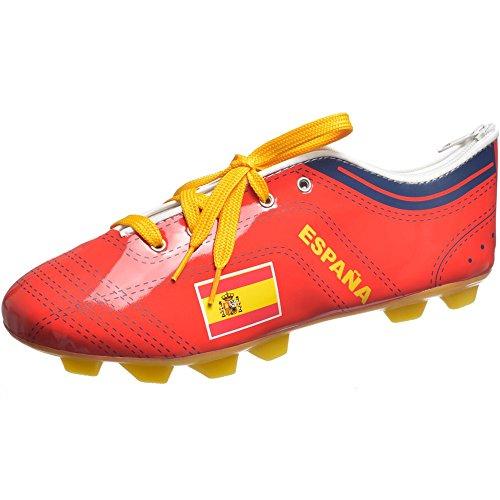 La Chaise Longue 36-1F-016 Trousse à crayons stylos Chaussure de foot Espagne Rouge et jaune Fermeture zip H8 x 7 x 22 cm
