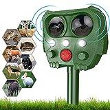 Cat Repellent,Sinohrd Waterproof Ultrasonic Animal Pest Repeller Usb Solar Powered Fox Deterrent Cat Scarer...