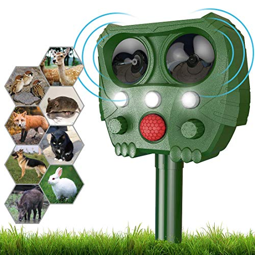 Repellente Piccioni,Sinohrd Ultrasuoni Repellente Gatti Dissuasore Piccioni, Impermeabile Energia Solare Animale Repeller...