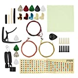 Kit de cambio de cuerdas de guitarra, kit de herramientas de reparación de guitarra, almohadilla de silicona estable, piezas de repuesto de guitarra, corrosión común, para guitarra con