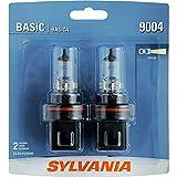 SYLVANIA 9004.BP2 9004 Basic Halogen Headlight Bulb, 2 Pack