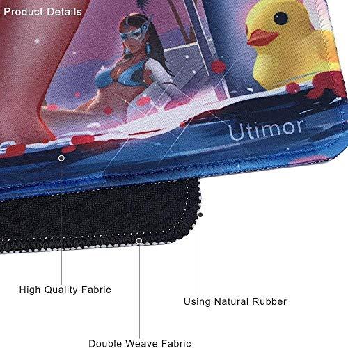 beyme Gaming Maus Pad Verlängerte XXL Große Tastatur, Matte für playerunknown battlegrounds- 89,9x 39,9x 0,3cm 90x40 Swimming Girls