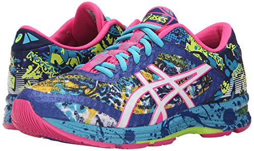ASICS Women's Gel-Noosa Tri 11 Running Shoe, Asics Blue/White/Hot Pink, 9 M US 6