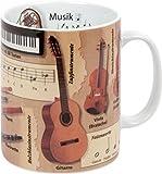 Könitz Kaffeebecher Wissensbecher (Musik), Porzellan, 1 Stück (1er Pack)