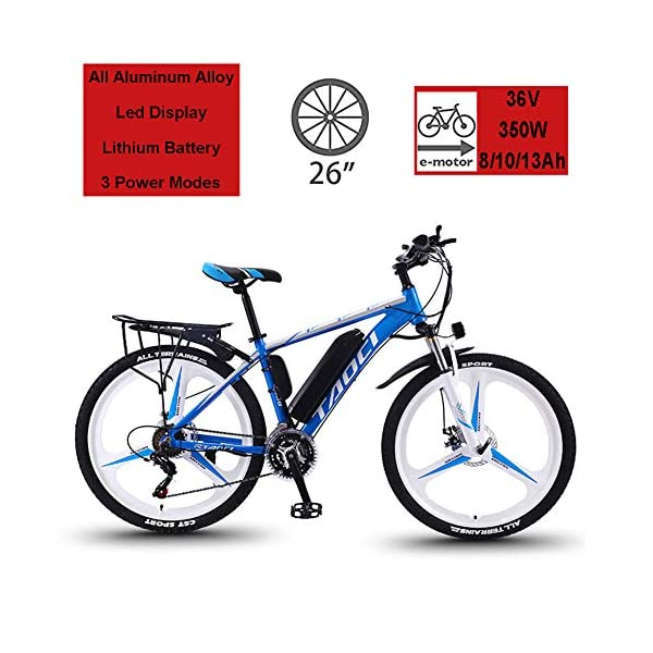 Electric Bikes Hyuhome Electric Bikes for Adult, Magnesium Alloy Ebikes Bicycles All Terrain,26″ 36V 350W 13Ah Removable Lithium-Ion Battery Mountain Ebike for Mens [tag]