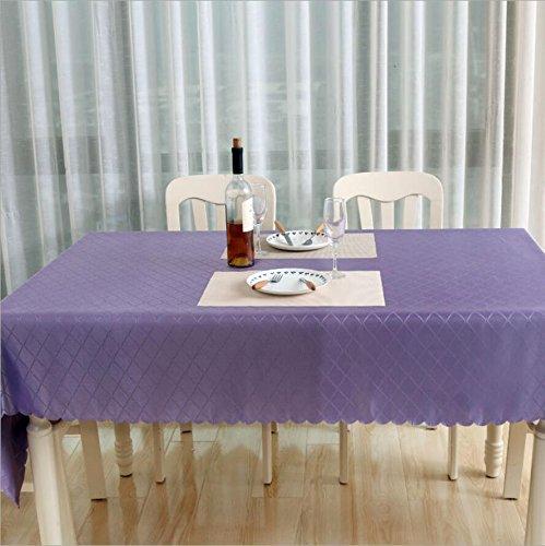 MFFACAI Polyester staubdicht Tischdecken Hochwertige Jacquard Brokat Tischdecke rot 140 * 200cm, Violet