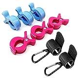 6 Kinderwagen Klammer + 2 Haken Clips für Einkaufstasche Spielzeug Wickeltasche Winter Decke , Kinderwagen Zubehör, Geschenk zur Baby Geburt