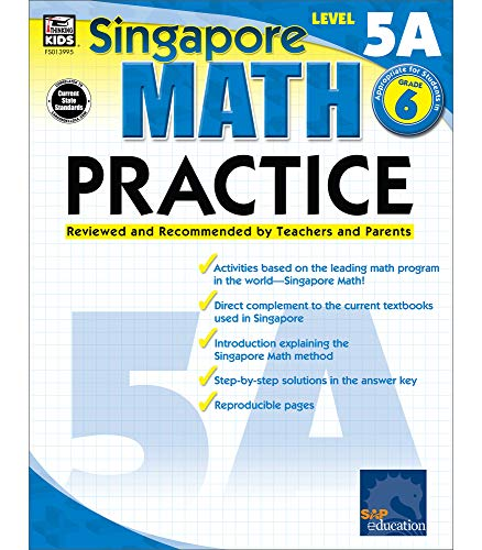 Math Practice, Grade 6: Reviewed and Recommended by Teachers and Parents (Singapore Math Practice)