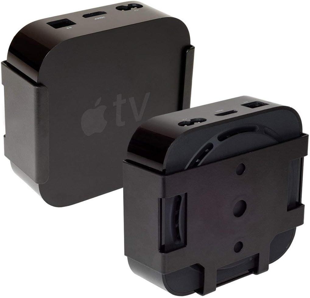 HIDEit Mounts ATV4K Apple TV 4K Mount, Custom Black Steel Mount, Compatible with Apple TV HD, Apple TV 4K 1st and 2nd Generation, Apple TV 4th Generation