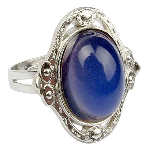 Anello ovale in stile bohémien dal colore cangiante in base all'umore, idea regalo