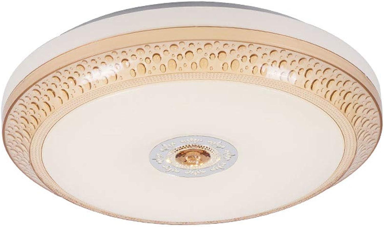 CHENSQ Led deckenleuchte 24 Watt Wohnzimmer Schlafzimmer Beleuchtung Fernbedienung dimmhalle deckenleuchte Studie Lampe (braun)