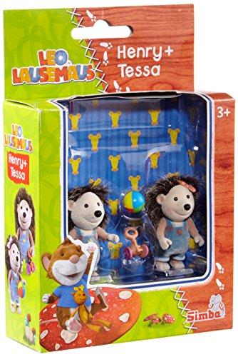 Simba 109222740 - Leo Lausemaus Figurenset Henry/Tessa 5 cm