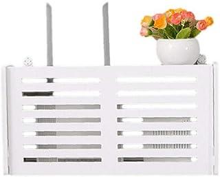 LAVALINK WiFi Router Inalámbrico Caja De Almacenamiento Repisa Colgar De La Pared del Enchufe 1pc Junta Soporte del Cable ...