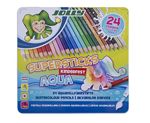 JOLLY 3001-0002 - Superstick Aqua, Lernmaterialien, 24 Farben…