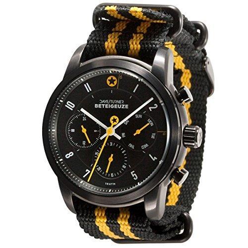 Daye/Turner Herren Uhr Analog Quarz mit Nylon Armband DT-43MW34BK-77ST