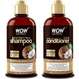 WOW Coconut Milk Shampoo and Conditioner Set (2 x 16.9 Fl Oz / 500mL - DHT Blockers Slow Down Hair...