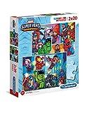 Clementoni- Marvel Super Hero Puzzles, 2x20 Piezas, Multicolor (24768)