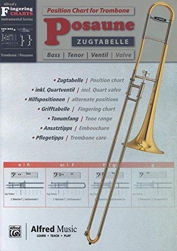 Zugtabelle Posaune | Position Chart Trombone | Posaune | Buch von diverse (6. März 2014) Musiknoten