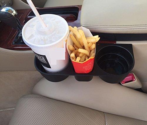 KFZ Getränkehalter Pommes&Burger&Cola Halter - Becherhalter - Kaffeehalter - Flaschenhalter Für alle Auto PKW LKW Ideal für Mittelkonsole, Rücksitz, Rückbank zwischen den Sitzen