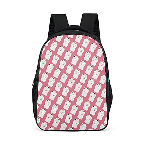 Lucky Cats Mochila impermeable bolsa de libros regalos para niños niñas para camping casual
