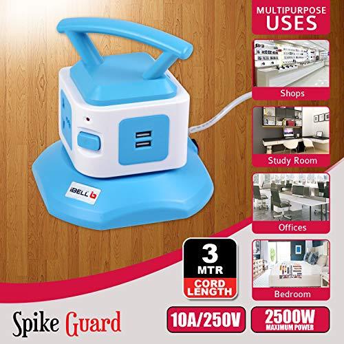 iBELL SG721X Muli Plug USB Charger Spike Guard