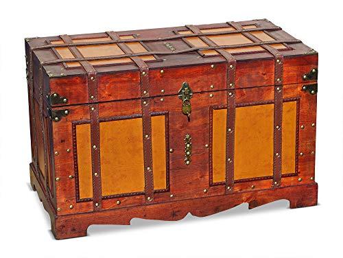 Brynnberg, grande cassapanca in stile coloniale, 65 cm x 37 cm x 40 cm (larghezza x profondità x altezza)