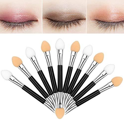 Sponge Eyeshadow Brush, 10pcs Einweg Schwamm Lidschattenpinsel Doppelseitig Bürsten Verfassungswerkzeuge Sponge Gespitzte Applikatoren bilden Pinsel