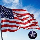 Jetlifee American Flag 2.5x4 Ft Embroidered Stars, Sewn Stripes, Brass Grommets US Flag Decorations,...